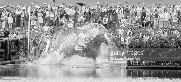 Princess Anne riding Goodwill during the threeday event competition in which she placed 26th at the Summer Olympic Games in Montreal circa July 1976
