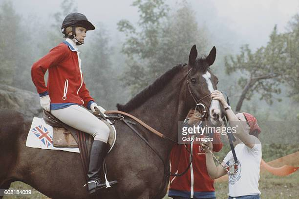 Princess Anne, The Princess Royal aboard Goodwill during the Mixed Three-Day Event Team Cross-Country at the XXI Olympic Summer Games on 24 July 1976...