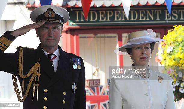 Princess Anne The Princess Royal accompanied by husband Sir Timothy Laurence represents The Queen as she unveils a Letters Patent at a ceremony to...