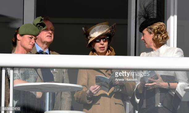 Princess Anne The Princess Royal and Andrew ParkerBowles attend Ladies Day at Cheltenham Festival on March 15 2017 in Cheltenham England