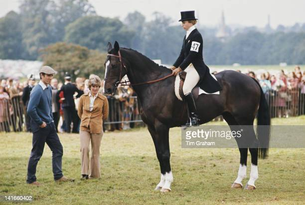 Princess Anne the Princess Royal and her husband Mark Phillips at Burghley Horse Trials 13th September 1974