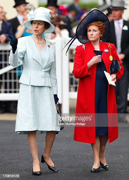 Princess Anne, The Princess Royal and Lady Elizabeth Anson attend Day 1 of Royal Ascot at Ascot Racecourse on June 18, 2013 in Ascot, England.