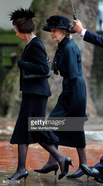Princess Anne, The Princess Royal and Princess Alexandra attend the funeral of Patricia Knatchbull, Countess Mountbatten of Burma at St Paul's...