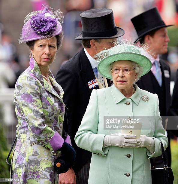 Princess Anne The Princess Royal and Queen Elizabeth II attend Ladies Day during Royal Ascot at Ascot Racecourse on June 21 2012 in Ascot England
