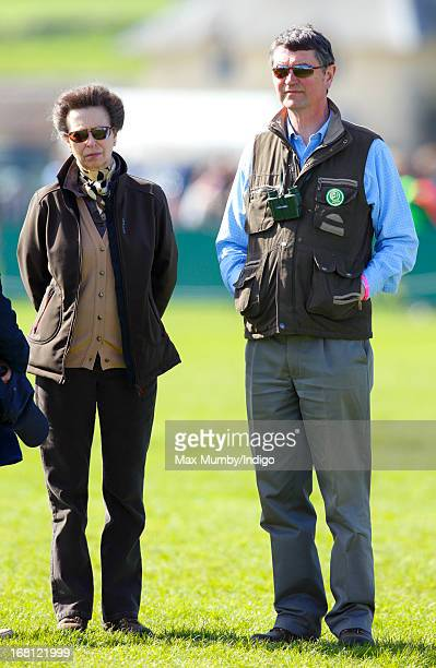 Princess Anne The Princess Royal and Vice Admiral Sir Timothy Laurence attend day 4 of the Badminton Horse Trials on May 5 2013 in Badminton England