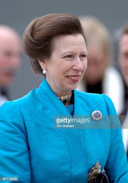 Princess Anne, The Princess Royal At The Quayside For The Naming Ceremony For Two New P & O Ships, The Oceania And Adonia.