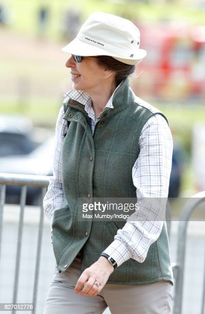 Princess Anne The Princess Royal attends day 3 of the Festival of British Eventing at Gatcombe Park on August 6 2017 in Stroud England