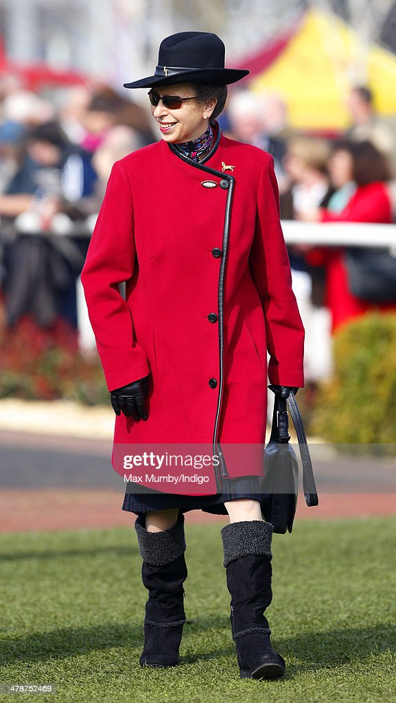 Princess Anne, The Princess Royal attends Day 4 of the Cheltenham Festival at Cheltenham Racecourse on March 14, 2014 in Cheltenham, England.