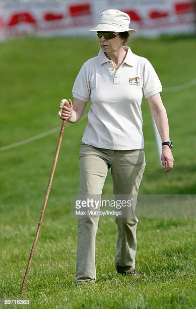 HRH Princess Anne The Princess Royal attends The Festival of British Eventing held on her country estate at Gatcombe Park on August 9 2009 in Stroud...