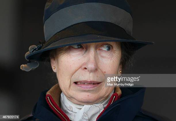 Princess Anne The Princess Royal attends the Gatcombe Horse Trials at Gatcombe Park on March 28 2015 in Stroud England
