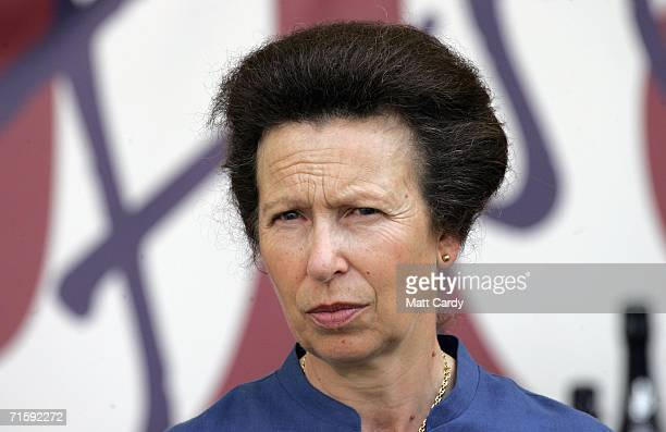 Princess Anne the Princess Royal attends the second day of the Gatcombe Horse Trials at the Gatcombe Estate on August 5 2006 in Tetbury England