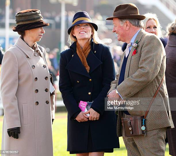 Princess Anne The Princess Royal Autumn Phillips and Andrew Parker Bowles watch the racing as they attend Ladies Day day 2 of the Cheltenham Festival...