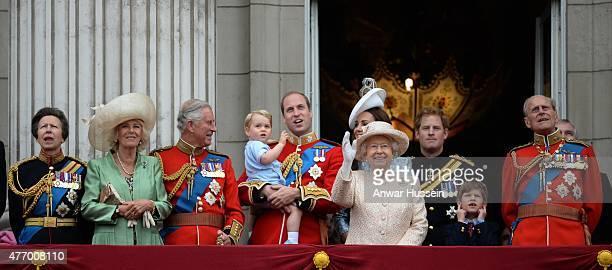 Princess Anne the Princess Royal Camilla Duchess of Cornwall Prince Charles Prince of Wales Prince George Prince William Duke of Cambridge Catherine...