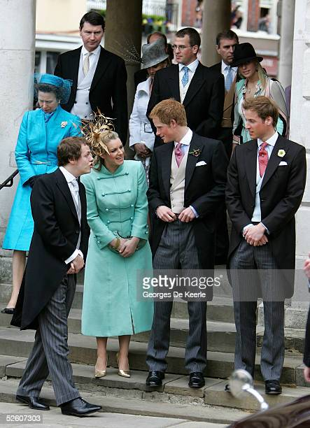 Princess Anne The Princess Royal her husband Rear Admiral Timothy Laurence Sophie Countess of Wessex Peter Phillips and Zara Phillips and Tom Parker...