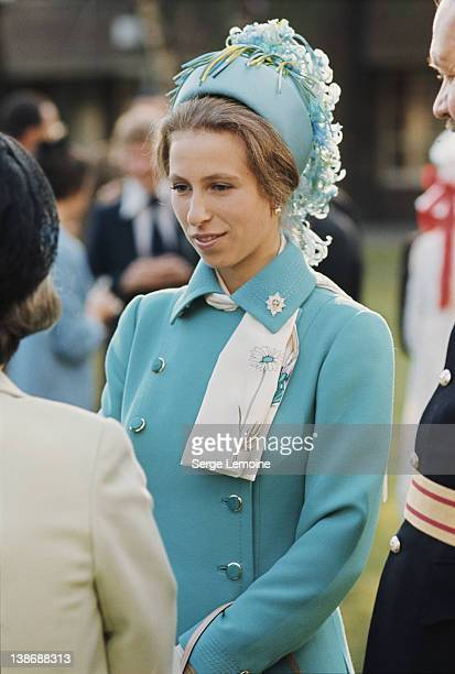 Princess Anne, the Princess Royal, in Berlin for the Queen's Birthday Parade, June 1973.
