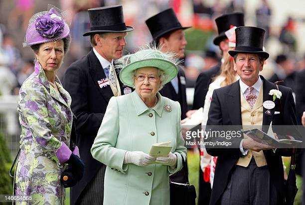 Princess Anne The Princess Royal Queen Elizabeth II and John Warren attend Ladies Day during Royal Ascot at Ascot Racecourse on June 21 2012 in Ascot...