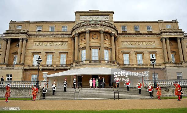 Princess Anne The Princess Royal Queen Elizabeth II Prince Philip Duke of Edinburgh and Prince Harry attend a special Garden Party for the Regiment...