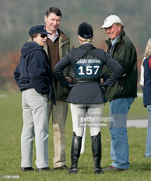 Princess Anne The Princess Royal ViceAdmiral Tim Laurence Zara Phillips and Mark Phillips attend the Gatcombe Park Horse Trials on March 26 2011 in...