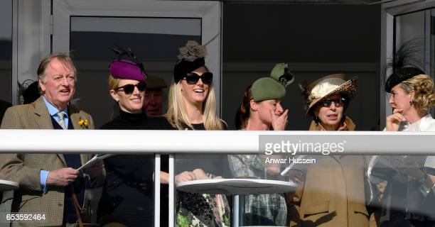 Princess Anne The Princess Royal Zara Tindall and Andrew ParkerBowles attend Ladies Day at Cheltenham Festival on March 15 2017 in Cheltenham England