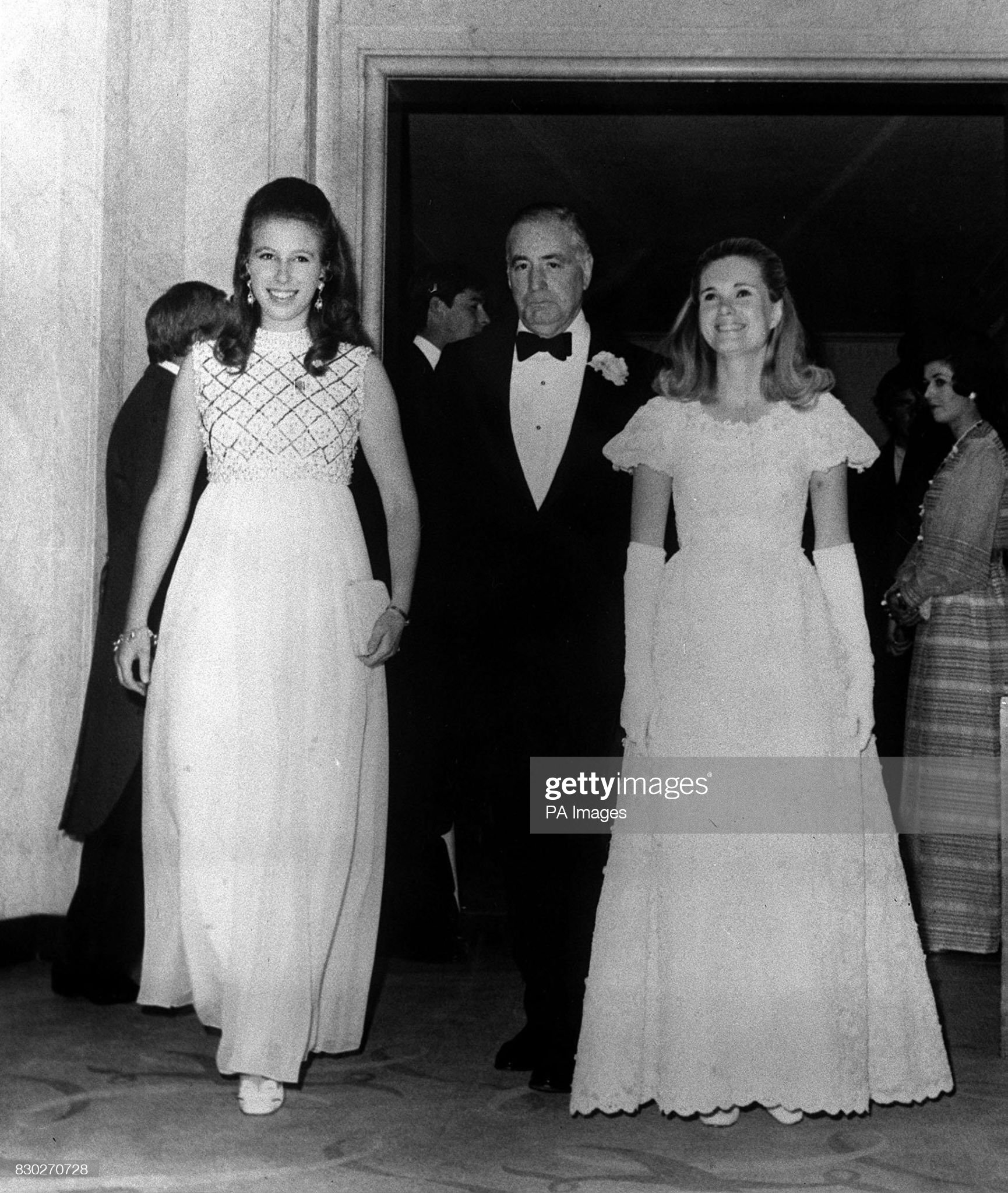 Princess Anne, US Ambassador Walter Annenberg & Tricia Nixon : News Photo