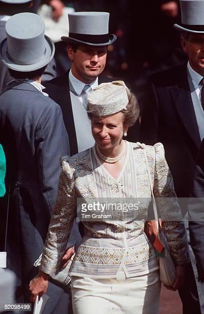 Princess Anne Walks Through The Racing Crowd At Royal Ascot.