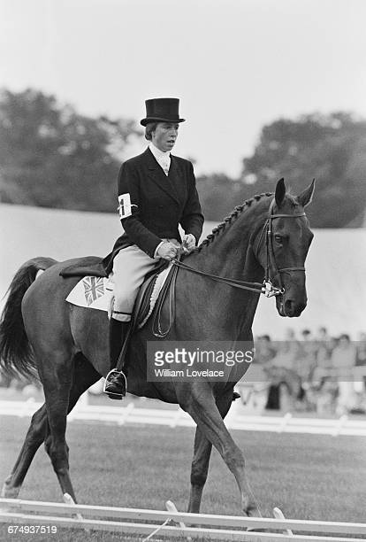 Princess Anne wins the European Eventing Championships on Doublet at Burghley Lincolnshire UK September 1971