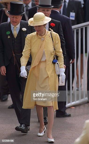 Princess Anne With Andrew Parkerbowles At Ascot Races