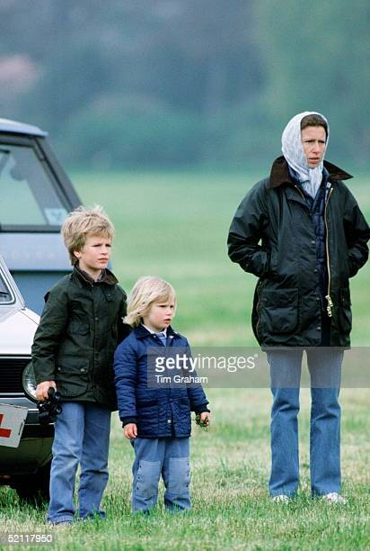 Princess Anne With Her Children, Zara And Peter Phillips At The Windsor Horse Show