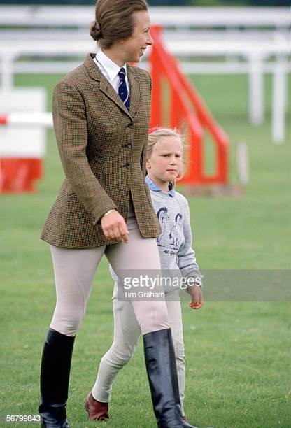 Princess Anne with her daughter, Zara Phillips, at Ascot fun day.