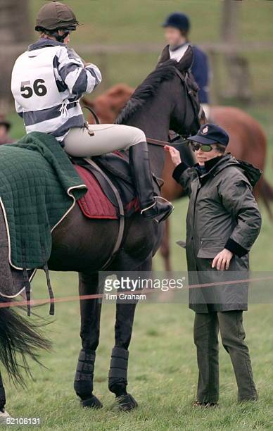 Princess Anne With Her Daughter Zara Phillips Who Is Competing In Horse Trials In The Cotswolds