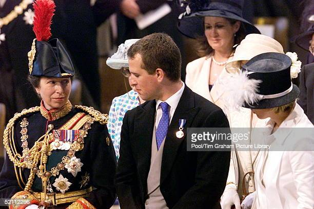 Princess Anne With Her Son Peter Phillips At A Service Of Thanksgiving To Mark The Queen's Golden Jubilee At St Paul's Cathedral