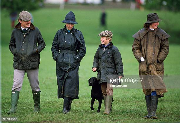 Princess Anne with her son, Peter Phillips at the Royal Windsor Horse Trials.