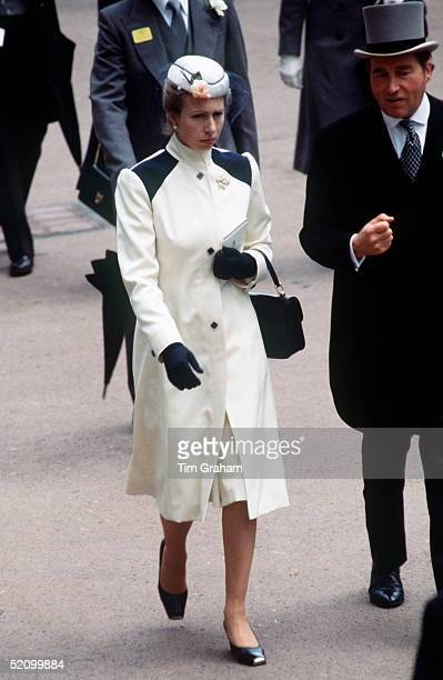 Princess Anne With Lord Porchester , The Queen's Racing Manager, At Royal Ascot June 17-20 1980