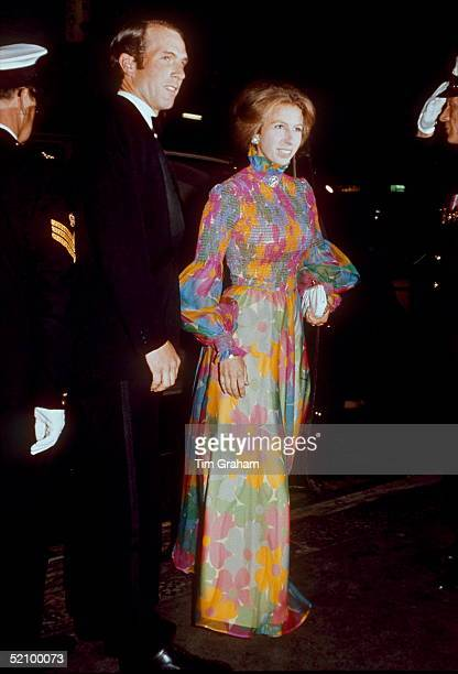 Princess Anne With Mark Phillips Arriving For A Film Premiere In London - Possibly The Royal Film Performance At The Odeon Leicester Square On 26th...