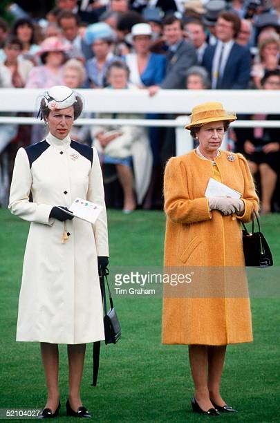 Princess Anne With The Queen, At The Derby.