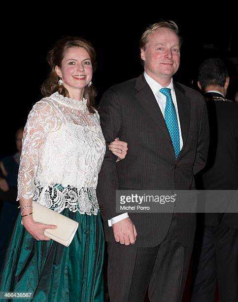 Princess Annemarie and Prince Carlos de Bourbon de Parme attend a celebration of the reign of Princess Beatrix on February 1, 2014 in Rotterdam,...