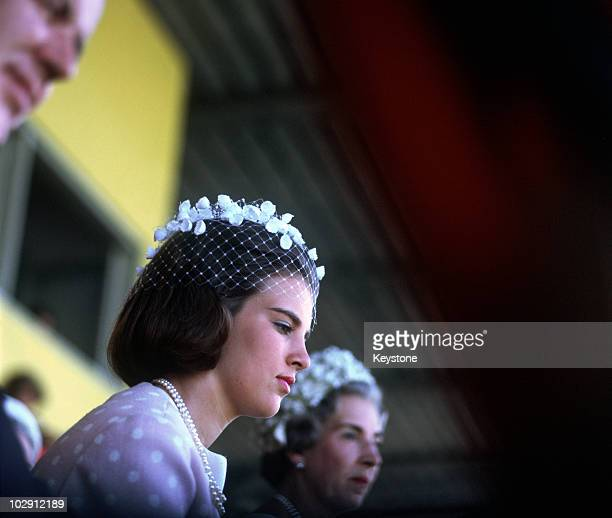 Princess AnneMarie of Denmark later Queen AnneMarie of Greece with her mother Queen Ingrid of Denmark 1964