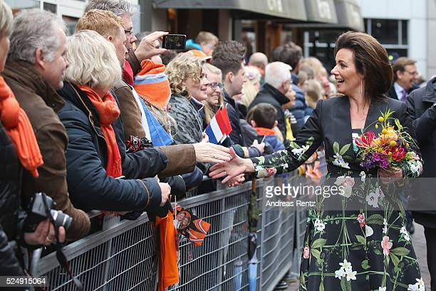 Princess Annette of The Netherlands seen during King's Day the celebration of the birthday of the Dutch King on April 27 2016 in Zwolle Netherlands...
