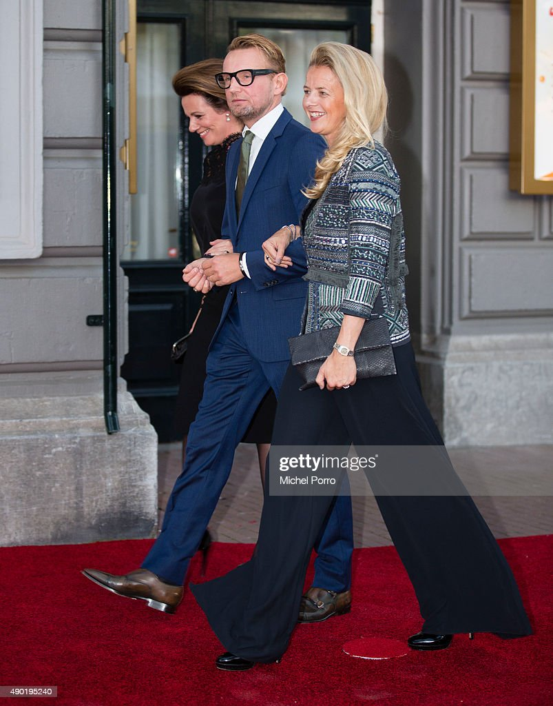 Princess Annette, Prince Bernhard jr and Princess Mabel of The Netherlands arrive for festivities marking the final celebrations of 200 years Kingdom of The Netherlands on September 26, 2015 in Amsterdam, Netherlands