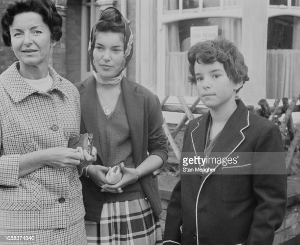 Princess Antoinette Baroness of Massy with her two daughters ElisabethAnne de Massy and Christine Alix de Massy London UK August 1961