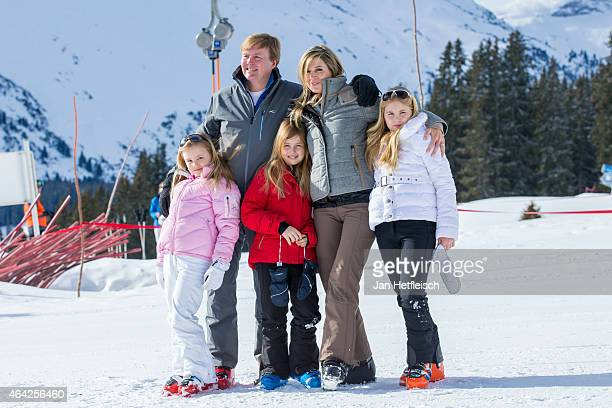 Princess Ariane King WillemAlexander of the Netherlands Princess Alexia Queen Maxima of the Netherlands and Princess CatharinaAmalia pose at the...