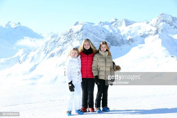 Princess Ariane of The Netherlands and her sister Crown Princess CatharinaAmalia of The Netherlands and sister Princess Alexia of the Netherlands...