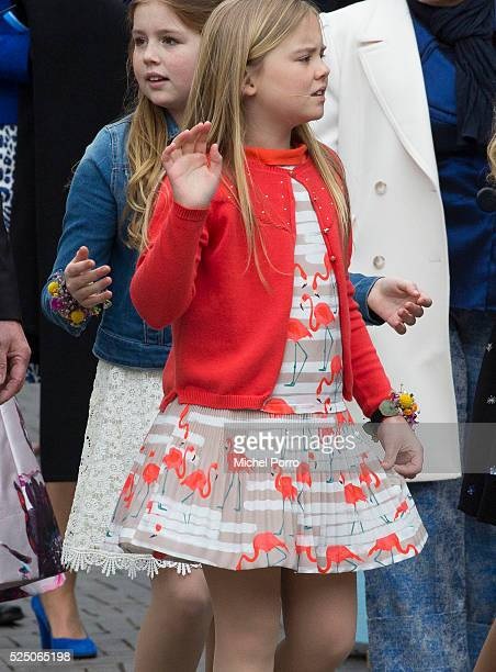 Princess Ariane of The Netherlands attends celebrations marking his 49th birthday of her father King WillemAlexander on King's Day on April 27 2016...