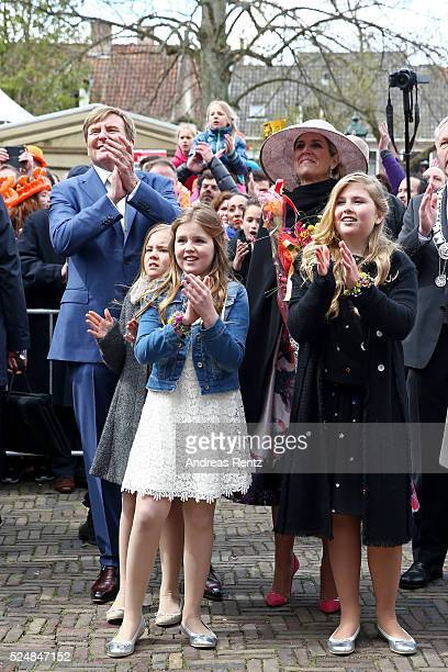 Princess Ariane of The Netherlands, King Willem-Alexander of The Netherlands, Princess Alexia of The Netherlands, Queen Maxima of The Netherlands and...