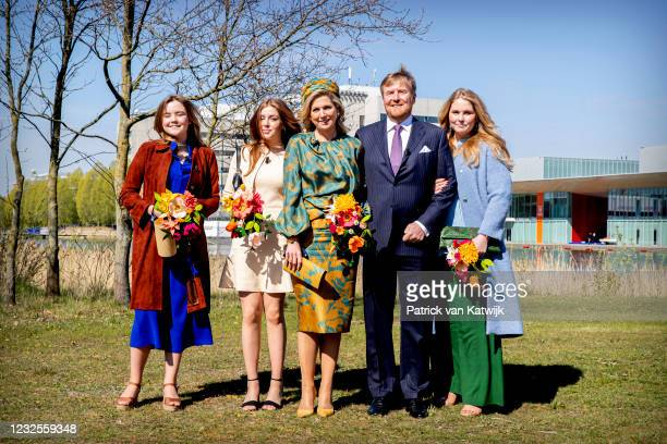 Princess Ariane of The Netherlands, Princess Alexia of The Netherlands, Queen Maxima of The Netherlands, King Willem-Alexander of The Netherlands and...