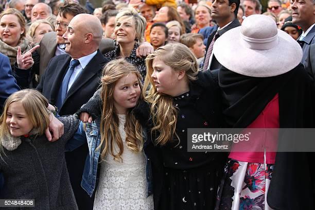 Princess Ariane of The Netherlands; Princess Alexia of The Netherlands; Crown Princess Catharina-Amalia of The Netherlands and Queen Maxima of The...