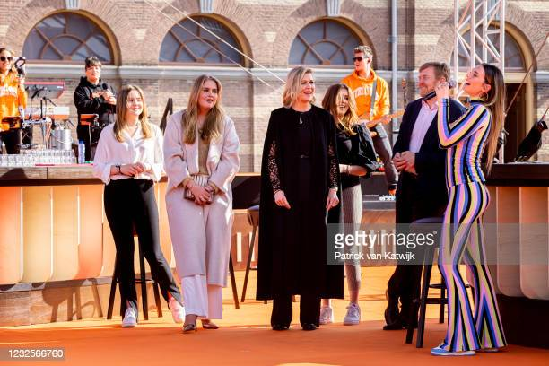 Princess Ariane of The Netherlands, Princess Amalia of The Netherlands, Queen Maxima of The Netherlands, Princess Alexia of The Netherlands and King...