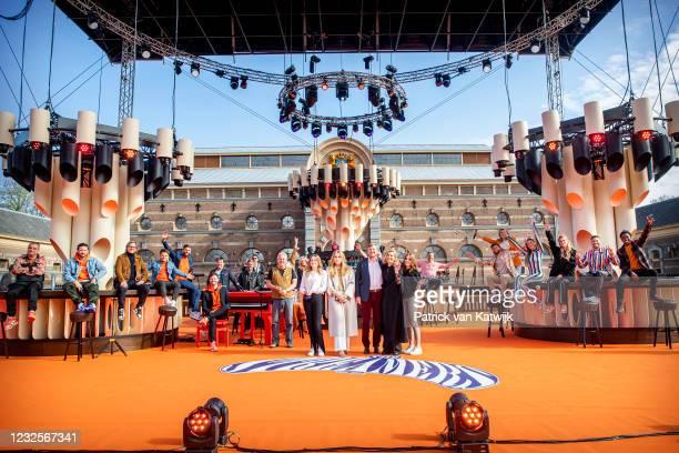 Princess Ariane of The Netherlands, Princess Amalia of The Netherlands, King Willem-Alexander of The Netherlands, Queen Maxima of The Netherlands and...