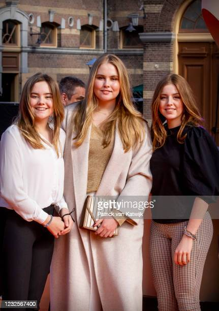 Princess Ariane of The Netherlands, Princess Amalia of The Netherlands and Princess Alexia of The Netherlands attend the online concert of The...