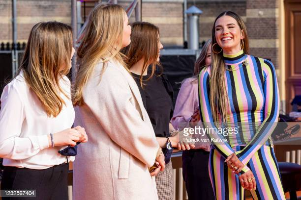 Princess Ariane of The Netherlands, Princess Amalia of The Netherlands, Princess Alexia of The Netherlands and Dutch Singer Maan attend the online...